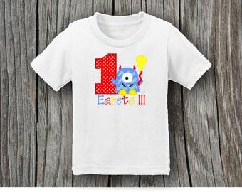 Children's Birthday Shirt Cute Monster