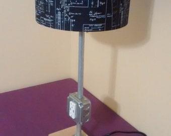 Industrial/Modern USB Lamp by MCDesignWorks on Etsy