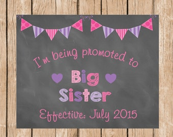 Big Sister to be Birth Announcement