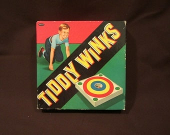 Ships Free!!  Vintage 1950's Bull's Eye Tiddly Winks Game By The Whitman Publishing Company, Complete, Free Shipping Within The US!