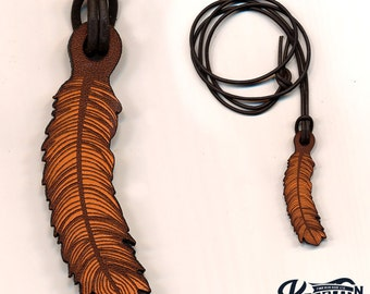 Laser Cut | Feather Necklace / Keychain