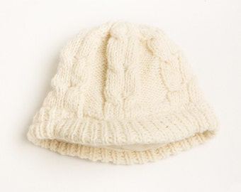Cable Newsboy Hat