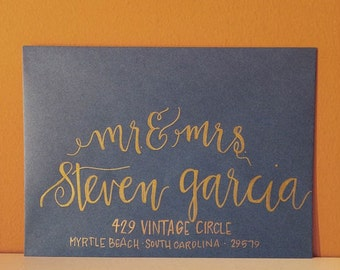 Handwritten Envelope Modern Calligraphy   Garcia *Envelopes Included*
