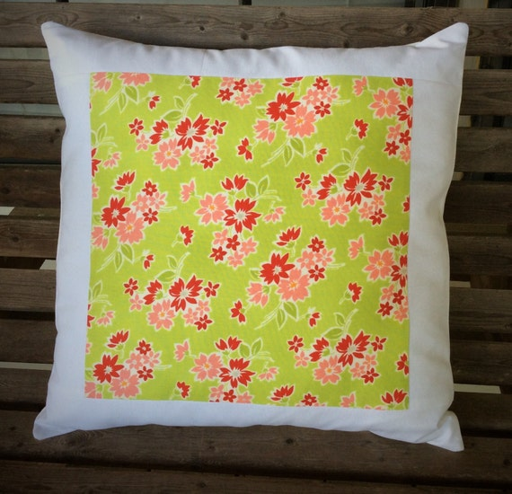 Pillow cover decorative pillow handmade lime by TheTrendySpool