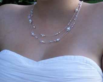 "Necklace ""Maya"" my jewel wedding - dress you a jewel. Front and back."