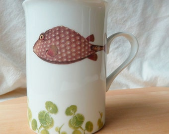The fishy fish Collection Porcelain Mug - geomertrique