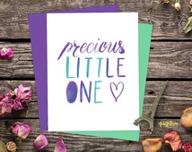 My Precious Print, Our Precious Print, Our Precious Little One Poster. Green and purple ombre watercolor. Sweet nursery print Lovely nursery