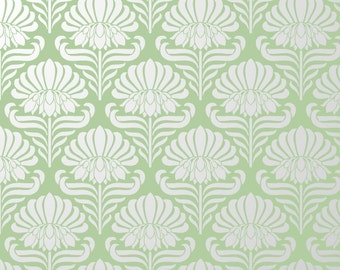 Reusable DIY Floral Wall Stencil Allover Pattern.  Available In 10 or 14 Mil Mylar at no extra charge.  SKU: S0040