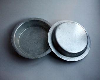 Soviet Vintage Aluminium Bowl Rustic Kitchen Decor Primitive Metal Bowl Camping Gear