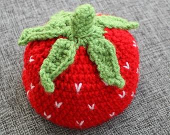 Strawberry Hat - Handmade to Order - Newborn to Adult