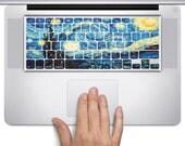 D224 Starry Night Apple MacBook Keyboard Vinyl Decal Stickers (11, 13, 15, & 17 inch Pro/Air/Retina)