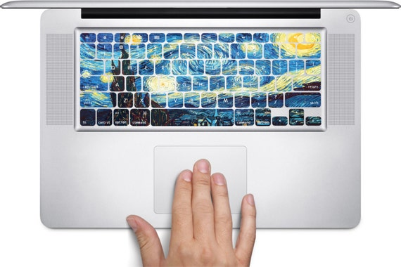 D224 Starry Night Apple MacBook Keyboard Vinyl Decal Stickers (11, 13, 15, & 17 inch Pro/Air/Retina)