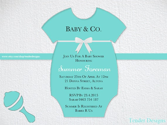tiffany baby shower invitation baby co by tenderdesigns on etsy