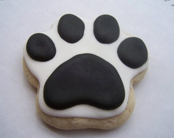 PAW PRINT Sugar Cookies - One Dozen ~ School spirit, sports, party favors