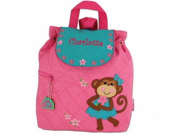 Personalized Pretty Monkey Embroidered Backpack