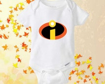 The Incredibles Logo onesie - baby onesie - shirt baby onesie