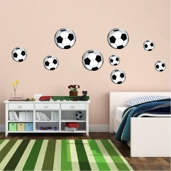 Soccer Ball Wall Art Sticker Soccer Ball Wall Design