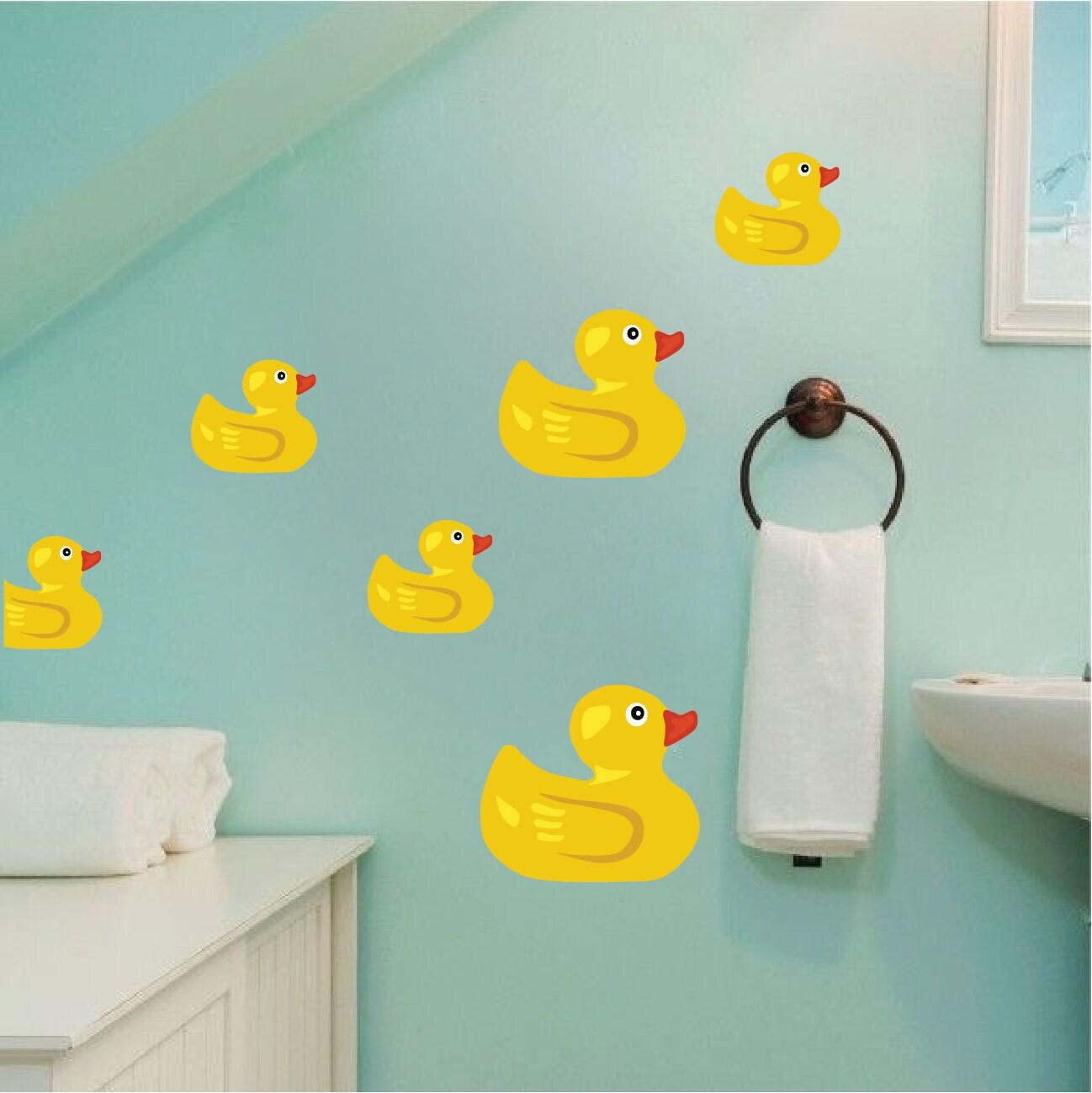Duck wall stickers bathroom popular duck bathroom decor for Duck bathroom accessories