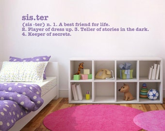 Sister Quote Wall Decal Sticker