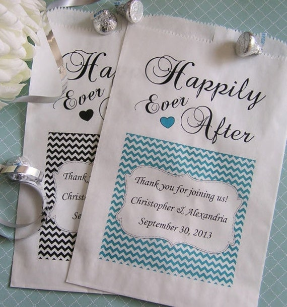 Personalized Wedding Gift Bags: Wedding Favor Bags Personalized Wedding Candy Bags By