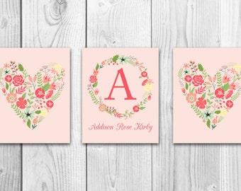 Printable Nursery Art, Shabby Chic Nursery Art, Printable Nursery Decor, Shabby Chic Nursery Decor, Girls Nursery Decor