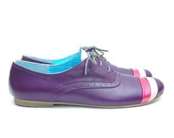 Purple Oxford Shoes