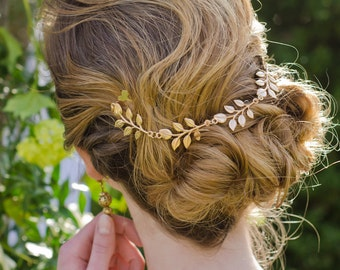 Vintage Wedding Hair Piece, Wedding Jewelry, Hair Chain, Hair Necklace, Hair Comb, Prom Updo, Hair Jewelry
