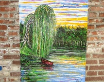 Twilight In Koi Pond >> Popular items for weeping willow tree on Etsy