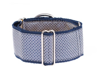 Blue Martingale collar, greyhound collar, 1.5 inch, dog collar, martingale, blue,martingale collars,dog collars