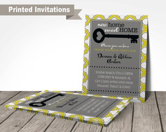 PRINTED, house warming invitation, new home announcement, open house invitation, customized wording, high quality printed invitations
