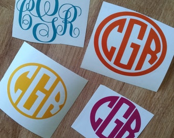 Personalized Monogram Decal 4 in