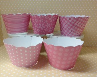Pink Cupcake Wrappers-10 per set