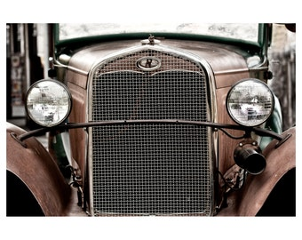 Vintage Photography, Retro Photography, vintage automobile, antique car, wall decor, Fine Art Photography - Rusty Old Ford