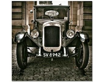 "Old Car Photography, Vintage Car, Austin, Car Print, Touring Car, Classic Car Photography, Fine Art Photography, ""Classic Austin - Sepia"""