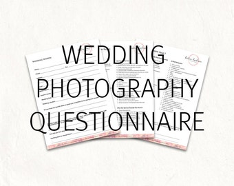 Photography wedding questionnaire - wedding photography questionnaire. Photography questionnaire form
