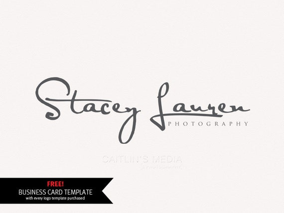 photography logo design signature logo premade logo. Black Bedroom Furniture Sets. Home Design Ideas