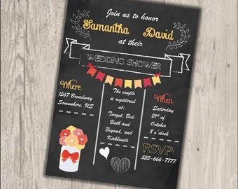 Mason Jar Wedding Shower Invitation