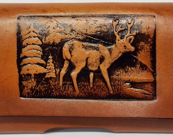 Deer Embossed Leather Cell Phone Case CPC 523