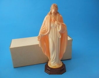 Vintage Catholic Hartland Plastics SACRED HEART of JESUS statue in orginal box