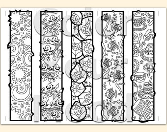 Breathtaking image within free printable bookmarks to color for adults