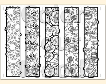 Handy image within free printable bookmarks to color for adults