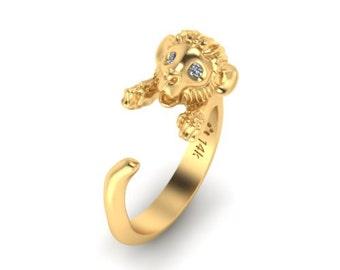 14k gold Monkey ring