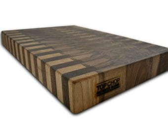Butcher Block Premium Reversible End Grain Walnut Cutting Board - Walnut Butcher Block