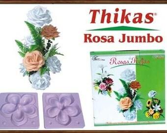 3D Mold For Flowers - Jumbo Rose Model - Rosa Jumbo Termoformado - To create your own flowers with foamy eva foam