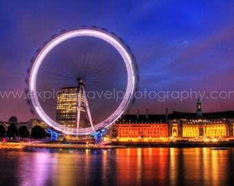 Wall Art 40% off Digital Download London Eye England Fine Art Landscape Photography -Instant Digital Download Printable by Explore Travel