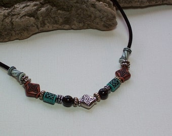 Silver Bead Dog Necklace, Silver Bead Dog Necklace, Suede Dog Necklace, Black Dog Necklace, Black Dog Jewelry, Suede Dog Jewelry, Beaded