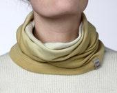 Merino wool, plant dyed neck sleeve LEE