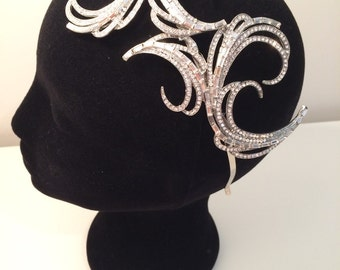 Stunning hand made couture bridal headpiece