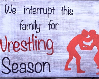 Hand Painted Wrestling Sign