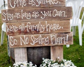 Rustic Wedding Signs - Barn Wedding Decor - Personalized Wedding Signs - FREE SHIPPING